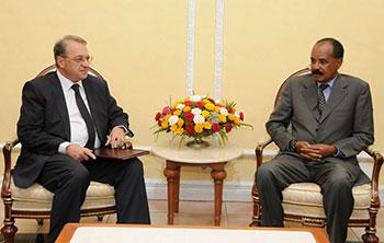 نائب وزير الخارجية الروسي على رأس وفد بلاده يزور  أرتريا
