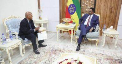 سمري رؤسوم يسلم أوراق اعتماده لدى الخارجية الإثيوبية سفيرًا لأرتريا