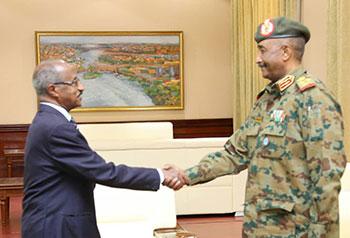 السودان يحتفي بزيارة وزير خارجية أرتريا الثنائي عثمان صالح ويماني قبرآب